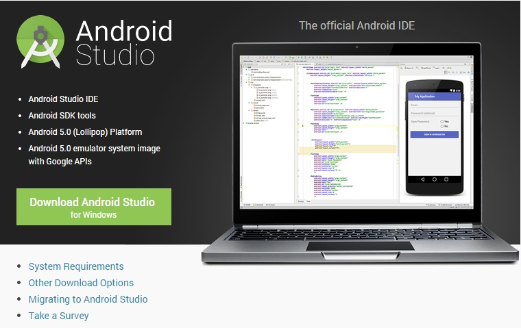 Andriod Studio для Windows